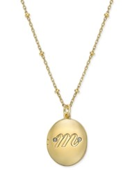 Kate Spade New York Gold Tone Initial 'A' Oval Locket Necklace M