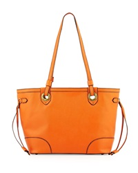 Oryany Amber East West Saffiano Leather Tote Bag Paprika