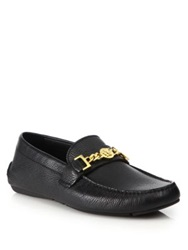 Versace First Chain Detail Loafers Black Gold