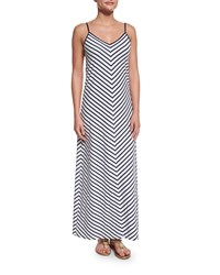 Tommy Bahama Mare Mitered Stripe Long Maxi Dress Mare White Women's