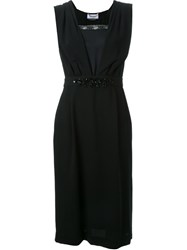 Muveil Embellished Waist Dress Black