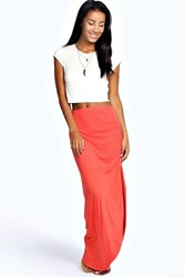 Boohoo Viscose Maxi Skirt Orange