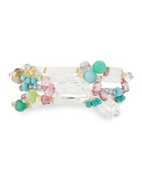 Greenbeads By Emily And Ashley Beaded Multi Wrap Bracelet With Cabochons And Rhinestones White