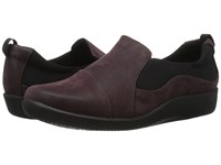 Clarks Sillian Paz Aubergine Synthetic Nubuck Women's Shoes Brown