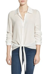 Women's Painted Threads Tie Front Shirt