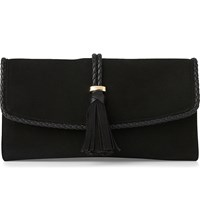 Lk Bennett Tracy Leather Clutch Bla Black