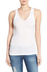 Women's James Perse Fitted V Neck Tank White