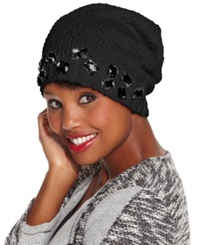 Collection Xiix Crystal Slouch Beanie Black