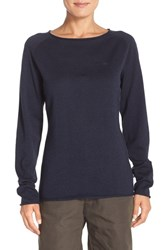 Fjall Raven Women's Fj Llr Ven 'Vik' Cotton And Wool Pullover Dark Navy