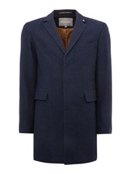 Peter Werth Cropley Button Overcoat Navy