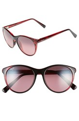 Women's Maui Jim 'Mannikin' 54Mm Cat Eye Sunglasses Red Stripe Maui Rose