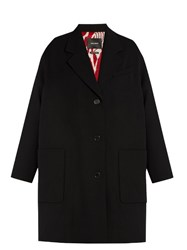 Isabel Marant Jagger Oversized Wool Duster Coat Black