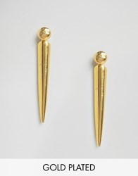 Ottoman Hands Stick Earrings Gold