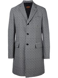 Tod's Houndstooth Coat Black