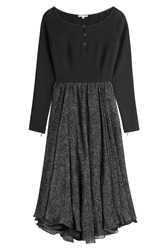 Olympia Le Tan Dress With Textured Skirt Black