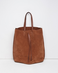 Maison Martin Margiela Line 11 Suede Offset Tote Light Brown