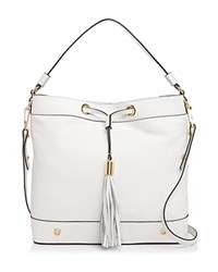 Milly Shoulder Bag Astor Drawstring Bucket White