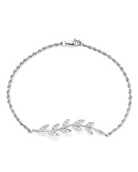 Bloomingdale's Diamond Leaf Bracelet In 14K White Gold .20 Ct. T.W.