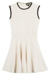 Giambattista Valli Virgin Wool Boucle Dress Beige