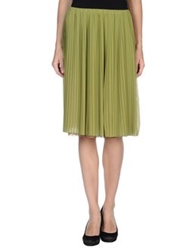 Alysi Knee Length Skirts Military Green