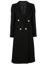 Joseph Double Breasted Long Coat Black