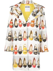 Moschino Shoe Print Coat