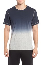 Daniel Buchler Men's Stripe Pima Cotton T Shirt Ink