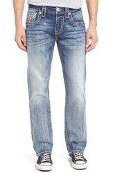 Rock Revival Men's Straight Fit Jeans Medium Blue
