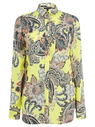 Warehouse Paisley Printed Shirt Yellow
