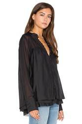 Free People Through And Through Top Black