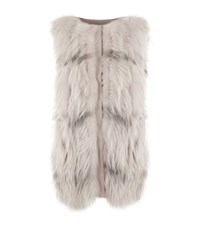 Fabiana Filippi Fox Fur Gilet Female Neutral