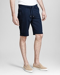 The Kooples Soft Fleece Shorts Navy