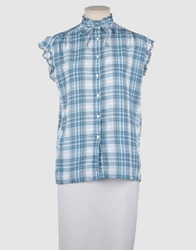 G750g Short Sleeve Shirts Sky Blue