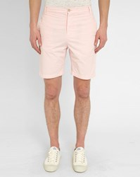 M.Studio Pale Pink Paul Fitted Cotton Shorts