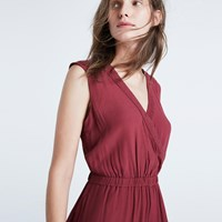 Madewell Wrap Front Culotte Jumpsuit Dusted Rose