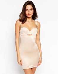 Marie Meili Shape Perfection Wear Your Own Bra Control Dress Nude