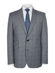 Alexandre Of England Grey Teal Check Jacket