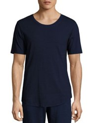 Ag Jeans Textured Jersey Tee Navy