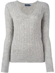 Polo Ralph Lauren Cable Knit Jumper Grey