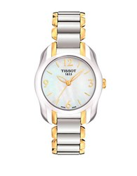Tissot Ladies T Wave Round White Mother Of Pearl And Quartz Trend Watch Two Tone