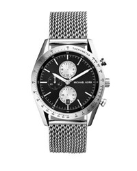 Michael Kors Stainless Steel Tachymeter Chronograph Watch W Black Dial