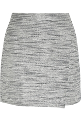 J.Crew Origami Wrap Effect Metallic Tweed Mini Skirt