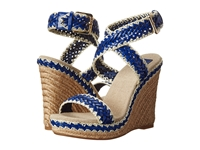 Tory Burch Lilah 120Mm Wedge Espadrille Cobalt Natural