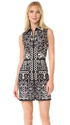 Holly Fulton Printed Cotton Dress Black White