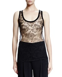 Givenchy Sheer Lace Tank Top Black Men's Size 38