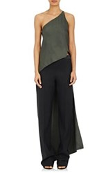 Narciso Rodriguez Women's High Low Top Dark Green