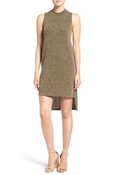 Everly Women's Mock Neck Sleeveless Midi Dress Olive