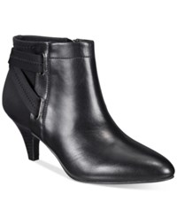 Alfani Women's Vandela Ankle Booties Only At Macy's Women's Shoes Black Leather
