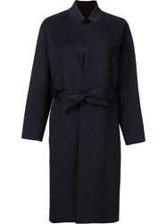 H Beauty And Youth. High Neck Belted Coat Black