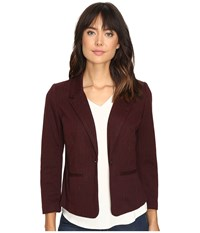 Kensie Stretch Herringbone Blazer Ks9k2220 Wine Combo Women's Jacket Burgundy